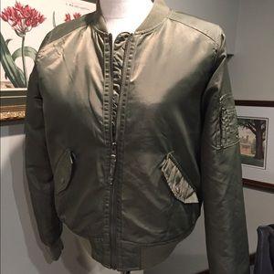Hollister olive green bomber jacket